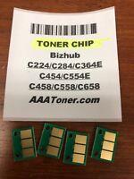 4 Toner Chip for Minolta Bizhub C224/C284/C364/C454/C554/C458/C558/C658 Refill