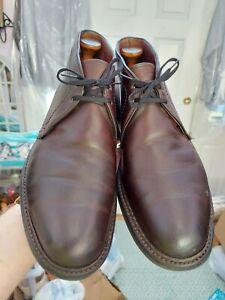 EUC Alden Chukka Boots Dark Brown Kudu Chromexcel Leather 1272S 9.5 A/C Barrie