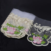2-3Yds Vintage Embroidered Mesh Lace Trim Bridal Dress Ribbon Craft Sewing Decor