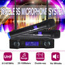 2 Channel Dual Handheld Microphone UHF Professional Wireless Mic Karaoke