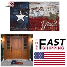 Texas Flag Recycled Rubber Door Mat 18 in. x 30 in. Home Entryway Floor Rug