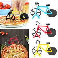 Stainless Steel Bicycle Pizza Cutter Bike Dual Slicer Chopper Home Kitchen Tool