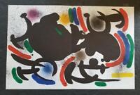Joan Miro Original Stone Lithograph VII Doublepage Mourlot 1972 Limited ed. Rare