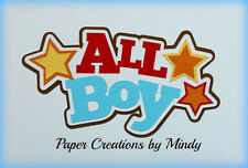 CRAFTECAFE MINDY ALL BOY DIECUT premade paper piecing TITLE scrapbooking page