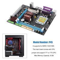 P45 Desktop motherboard LGA 771/775 Dual Board DDR3 Support Intel Xeon L5420 WN