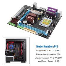 P45 Desktop motherboard LGA 771/775 Dual Board DDR3 Support Intel Xeon L5420 JA