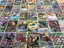 Pokemon Card Lot 100 TCG Cards with Rare Com Unc + GX EX HYPER OR MEGA Gift