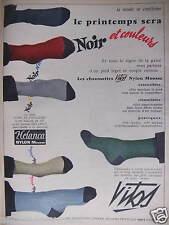 PUBLICITÉ 1956 CHAUSSETTES VITOS NOIR ET COULEURS - ADVERTISING