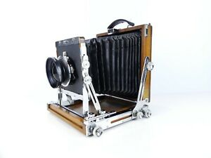 NAGAOKA SEISAKUSHO 5X4 4X5 WOODEN LARGE FORMAT CAMERA WITH SYMMAR S 150MM LENS