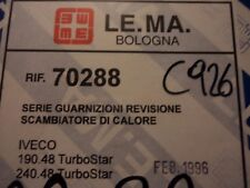 C926 - LE.MA. 70288 - GUARNIZIONI SCAMBIATORE DI CALORE 190.48 TURBOSTAR IVECO