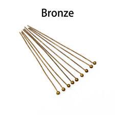 Handmad wholesale Copper Ball Head Pins DIY tool DIY making stud earrings