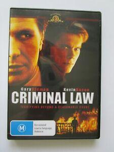 Criminal Law- DVD - Region 0/ALL