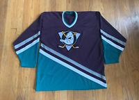 Anaheim Mighty Ducks Vintage 90's CCM Maska Home Jersey XL RARE NHL