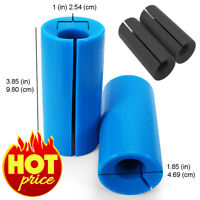 2X Thick Barbell Silicone Grips Home Gym Arm Wrap Bar Dumbbell Grip Black Pair