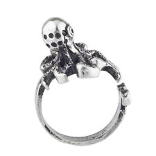 Lux Accessories Burnish Silver Tone Vintage Sea Monster Octopus Statement Ring