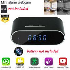 1080P WiFi Mini Alarm Clock Security Camera Home Surveillance Motion Detection
