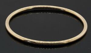 Tiffany & Co. antique 14K yellow gold 3.5mm wide bangle bracelet