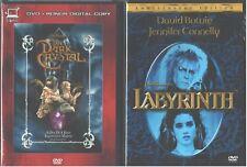 JIM HENSON'S: Dark Crystal+ Labyrinth- David Bowie+ Jennifer Connelly- NEW 2 DVD