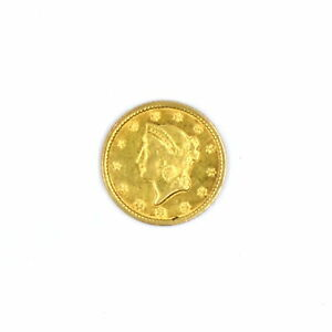 1849 $1 LIBERTY HEAD 90% GOLD COLLECTIBLE US COIN VF-XF CONDITION ANTIQUE