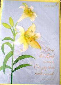 Papyrus Vellum Lily Flowers Floral Easter Greeting Card