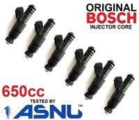 6 BOSCH Fuel Injectors for Ford BA BF XR6 turbo 650cc 60lb 62lb 65lb EV6 FPV HSV