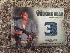 Walking Dead trading cards season 3 Oscar wardrobe card M16