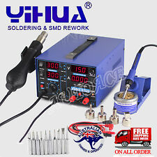 3in1 SOLDERING REWORK STATION FOR YIHUA 853D USB 2A DC POWER SUPPLY HOT AIR GUN