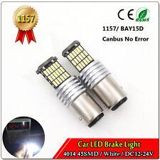 2X 1157 BAY15D Car led Bulb 45SMD 4014 White CANBUS  Error Free Brake Turn Light