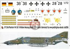 Peddinghaus 1/72 German F-4F Phantom II Markings JG 74 'Mölders' Neuburg 1246