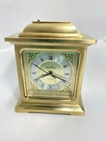 Antique Style , brass and beveled glass, Seth Thomas empire  clock Table Clock