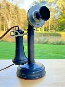 EXCELLENT ANTIQUE KELLOGG CANDLE STICK TELEPHONE - EARLY 1900's