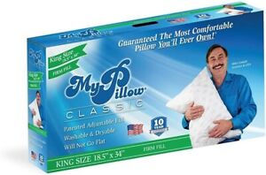 King Classic Firm Pillow, by MY PILLOW INC, Single Unit