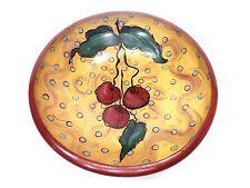 Original Cherry Painted Wood Bowl