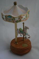 Musical Ceramic Carousel Legends of the Rose Carousel Romance Willits Design 511