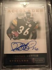 2012 Playbook Accolades Jerome Bettis Auto /49 Steelers HOF