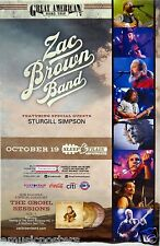 """ZAC BROWN BAND """"THE GREAT AMERICAN ROAD TRIP TOUR"""" 2014 SAN DIEGO POSTER"""