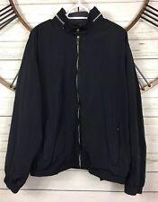 Weatherproof Coated Performance Jacket Hidden Hood Pouch Black Mens Size XL