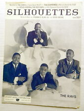 The RAYS Sheet Music SILHOUETTES Regent Publ. 50's DOO WOP Soul R&B Vocal Group