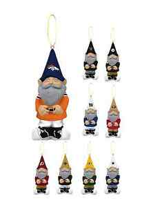 NFL Hanging Gnome Christmas Tree Ornament EVERGREEN Brand - Pick Your Team!