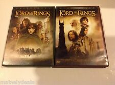 Lot of 2 The Lord Of The Rings The Fellowship of The Ring The Two Towers 2 Disc