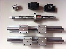 ballscrew RM1605-370mm-C7+BK/BF12 end bearing+1 set SBR20 linear slide rail CNC