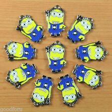 Wholesale 10pcs Metal Enamel Charm Pendants Boys Girls Jewelry Gift Making Craft