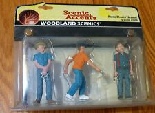 Woodland Scenics G #2550 Scenic Accents(R) Figures - Horse Shoein' Around