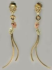 Handcrafted S. Dakota Black Hills 12kt Red Green Gold Earrings Ancient Mycenea