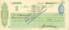 "glynn.mills & co "" holts branch whitehall london "" november 7th 1951 .£20"