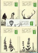 █ 4 Cartes Postales + 1 enveloppe Flamme de CORNIMONT Parc Naturel des Ballons