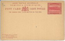LIONS : POSTAL STATIONERY: DOMINICA