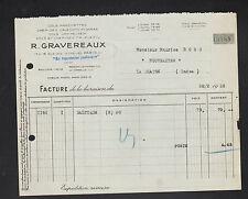"""PARIS (II°) COLS & MANCHETTES de CHEMISE """"R. GRAVEREAUX"""" en 1936"""
