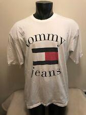 Vintage Tommy Jeans Hilfiger Big Flag T Shirt Mens size XXL Made in USA