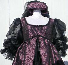 18-20 plus size 3X Medieval/Renaissance dress gown plum purple taffeta cosplay.